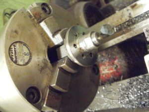 Machine old sprocket into a boss